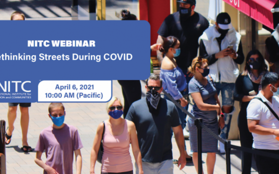"""Lunch and learn webinar: """"Rethinking streets during COVID"""""""